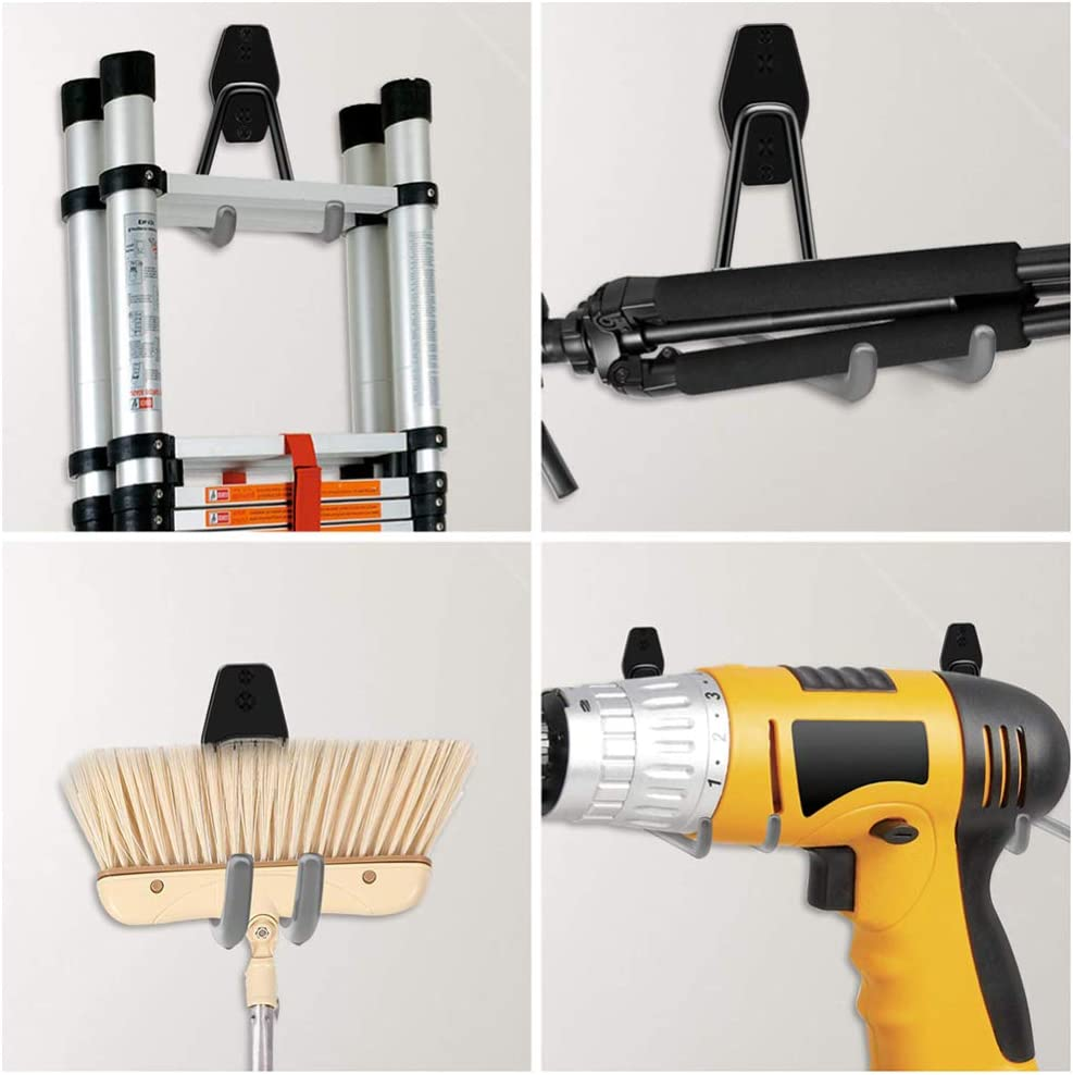 lxfy Hook Up paquet de 5 Crochets de rangement de garage en acier utilitaire double usage intensif /étag/ère de support capable fix/ée au mur