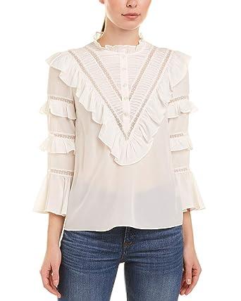 8b538a9464b25e Amazon.com  Rebecca Taylor Womens Silk   Lace Top  Clothing