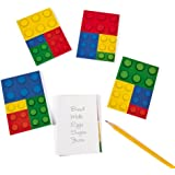 Color Brick Party Notepads - 24 Count