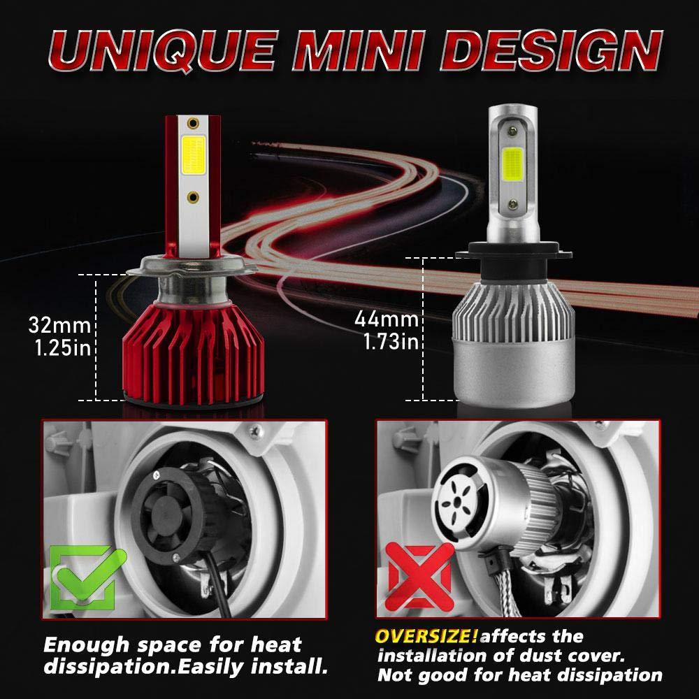 H7 lesgos Kit de conversion de mod/èle de faisceau ajustable pour faisceaux CSP imperm/éable 10000LM 6000K extr/êmement lumineux pour voiture 2Pcs H7 LED ampoules de phare