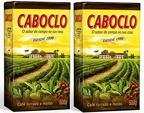 Cafe Caboclo 500g | Torrado e Moído | Roast and Ground Coffee 17.60oz (PACK OF 2) |GLUTEN FREE|