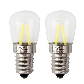 Bombilla maquina de coser, E14 Filamento LED 2W (Equivalente a 25W), 200LM