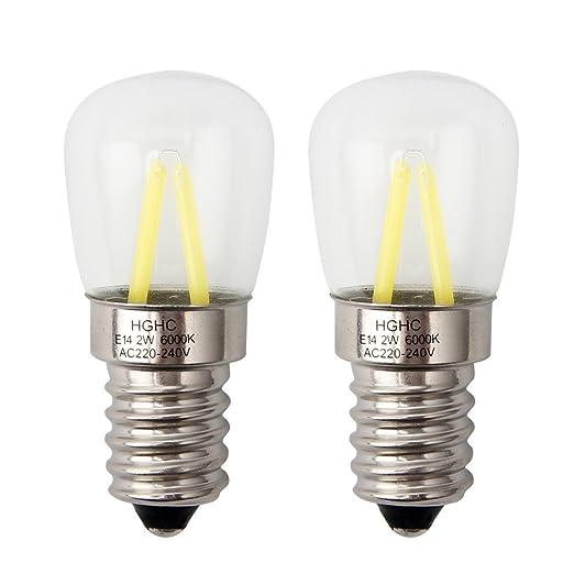 E14 LED 2W bombilla frigorifico,Bombilla de la máquina de coser (Equivalente a 25W