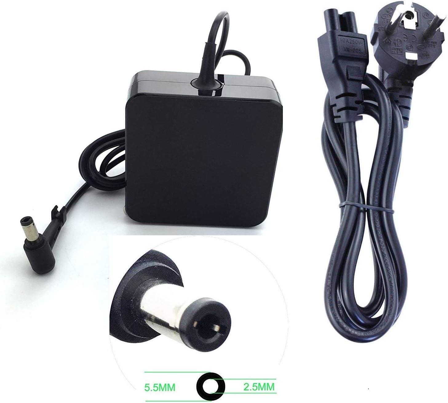 Topnma Chargeur Adaptateur Secteur pour ASUS de Haute qualité: 19v 4,74a 90w (75w, 65w compatibles) Notebook EUR Alimentation,5.5 * 2.5mm (Nouvelle