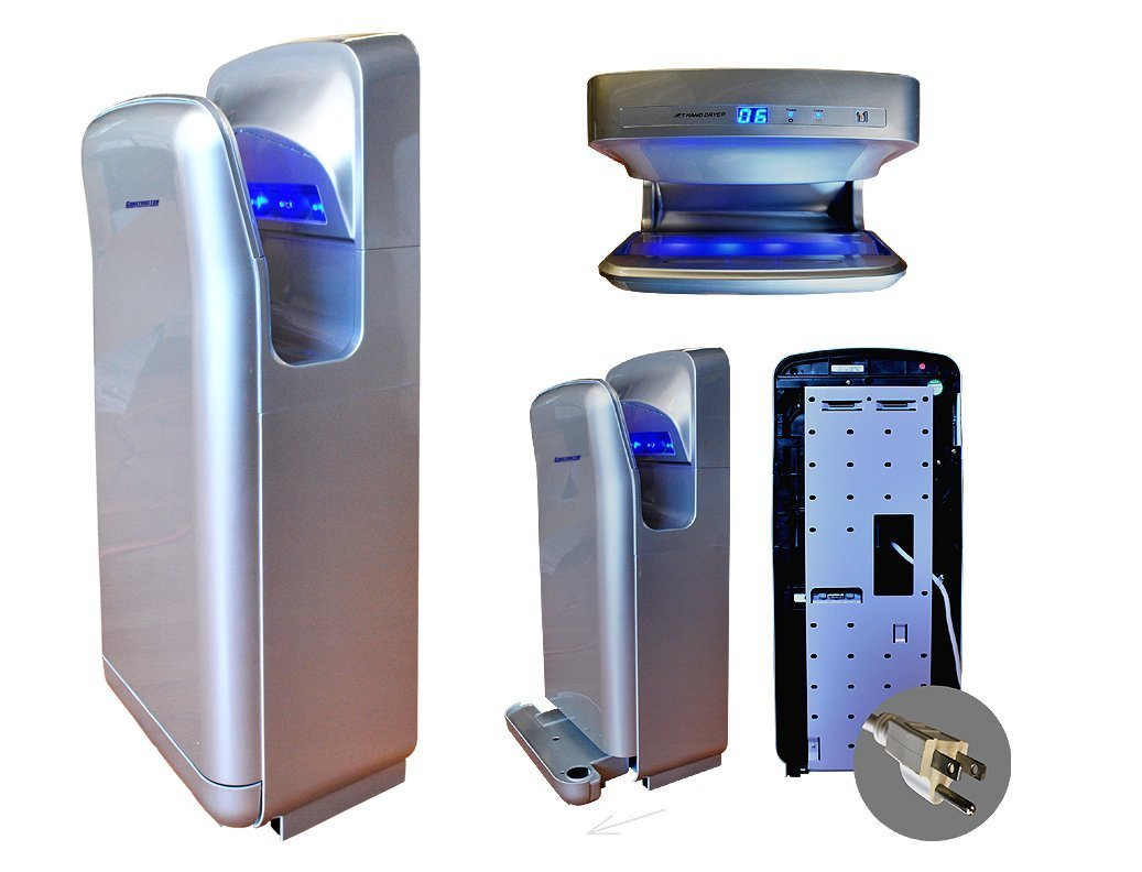 Constructor Automatic High Speed Commercial 1900W Durable Hand Dryer with Infrared Sensor - Silver
