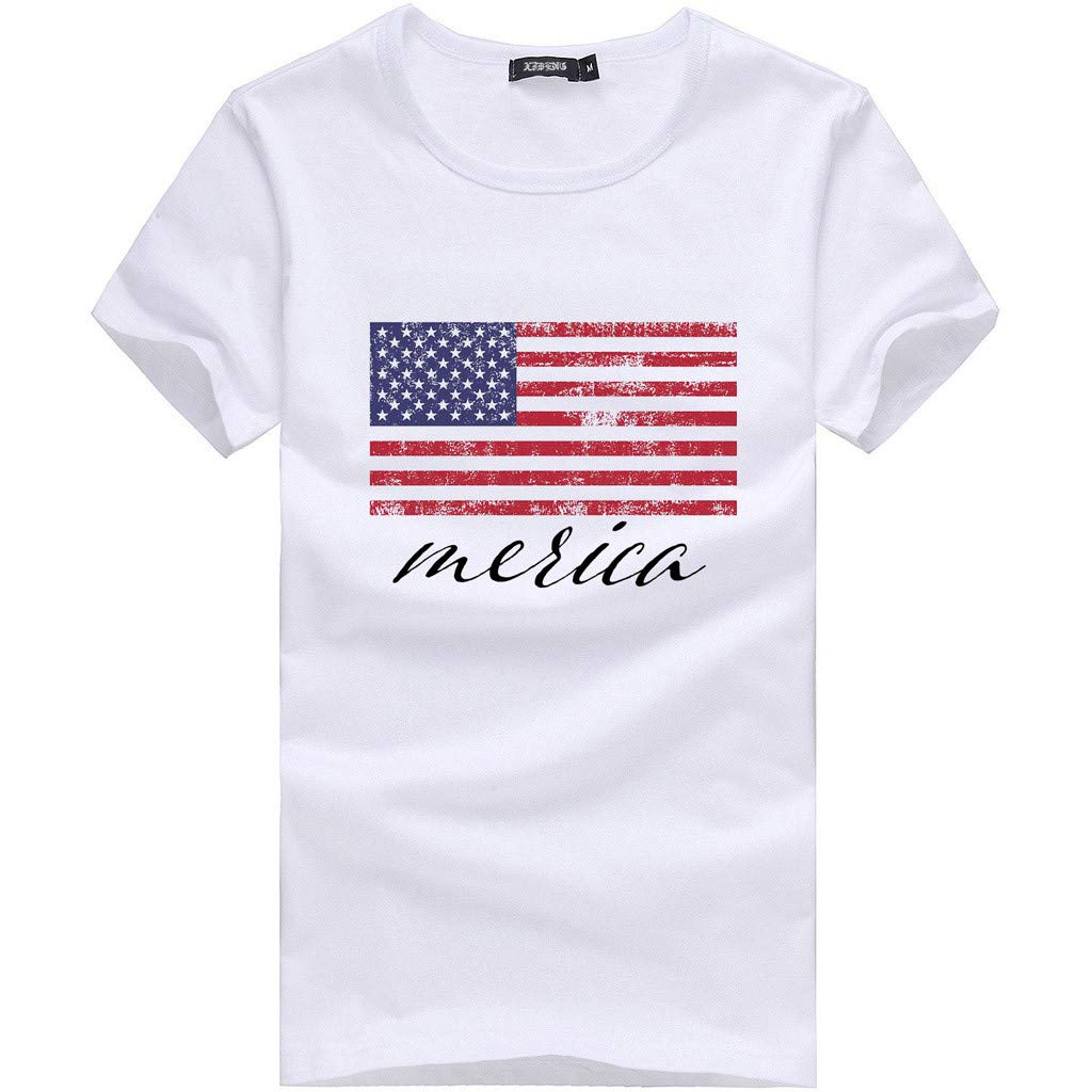 ✨Loosebee Women Wife Mom Boss Heart Letter Printed T-Shirt Female Casual Tops Tee America USA Flag Printed Blouse