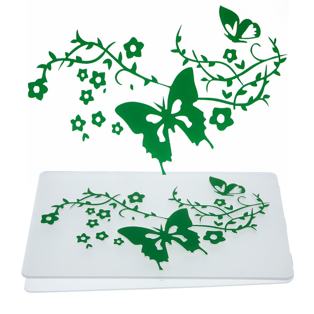 CALISTOUK Embossing Folder Folding DIY Cards for Scrapbook Plastic Transparent