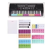 Suweqi 61 88 Keys Note Stickers Piano Electronic Keyboard Stave Sticker White Key Staff