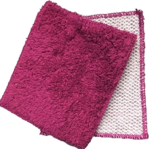 Janey Lynn Designs Cha Cha Chili Red Shrubbies 5 x 6 Cotton /& Nylon Washcloth 2 Pack
