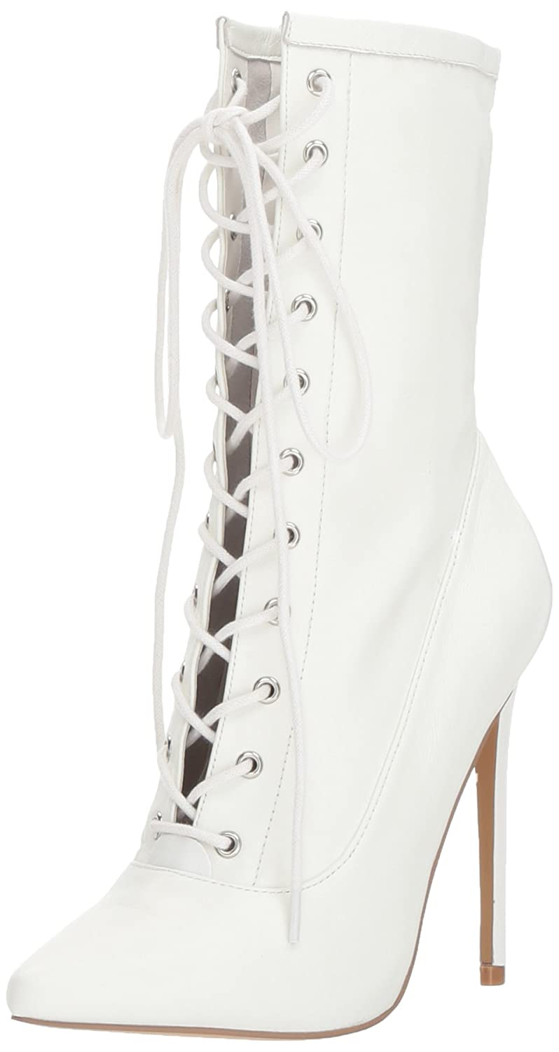 Steve Madden Women's Satisfied Fashion Boot B074NR2ZJ5 7.5 M US|White Leather