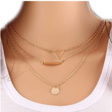 karma or hotmixcold thin hot check deals chain on layering these layered diamond gold circle out cz etsy delicate shop silver set necklace
