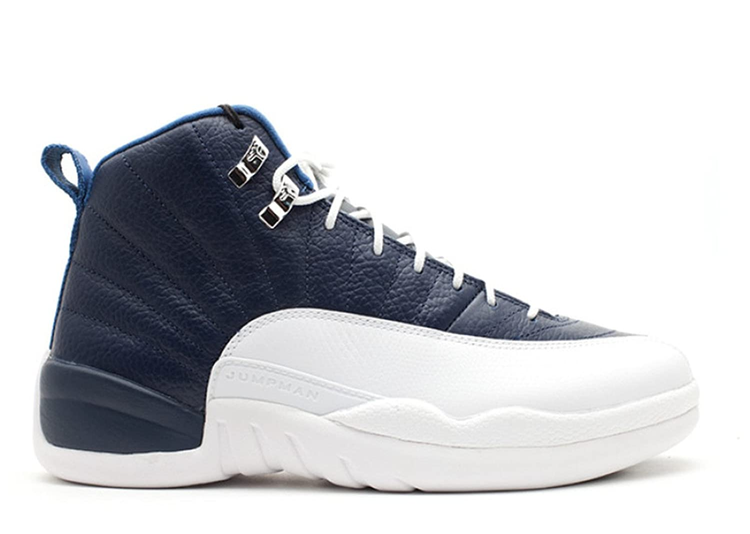 2017 Sports Sneakers Air Jordan 12 Retro Obsidian 2012 Release Universty Bluewhite French Blue Basketball Shoe