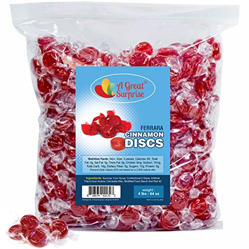 Cinnamon Hard Candy Individually Wrapped - Cinnamon Discs - Bulk Candy 4 LBS