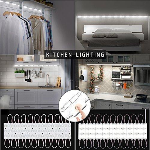 Bajo clóset Luces, 10ft, 60LED clóset Encimera de la cocina luz LED con regulador de intensidad de brillo (blanco)
