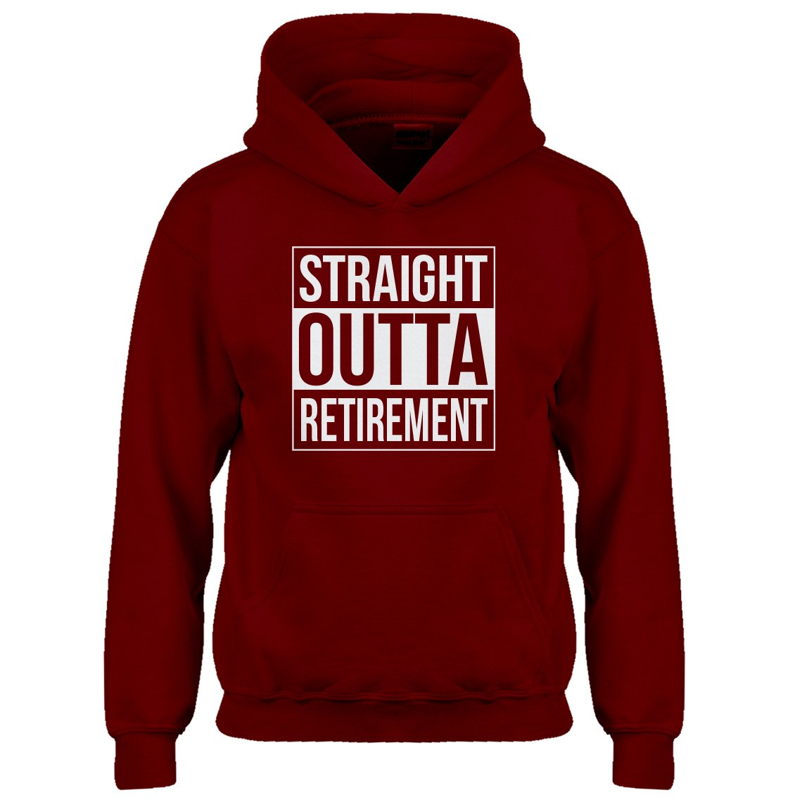 Indica Plateau Kids Hoodie Straight Outta Retirement Medium Red Hoodie