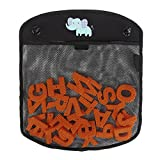 Bath Toy Storage Bag - IntiPal Bath Toy Organizer With 2 Strong Suction Cups (Black Elephant)