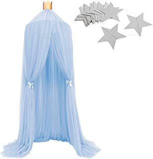 LUCKIEY Mosquito Net Canopy,Princess Dome Bed Canopy,Canopy for Bed, Kids Room Decoration,Photography Props for kids,Full Hanging Kit, Insect Protection Repellent Shield,Gift Bag (Candy Pink)