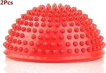 W-family 2Pcs Anti-Slip Foot Massage Ball Half Ball Massage Mat Exercise Balance Point for Gym Yoga Pilates