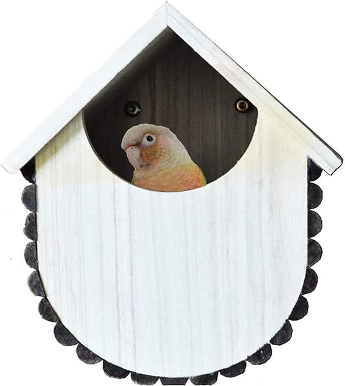 Jaula dpájaros duradera y ecológica, Loro jaula pájaro jaula casero hámster caliente caja de cría al aire libre de madera pájaro casa loro casa suministros mascotas cuidado de aves de corral Jaula par