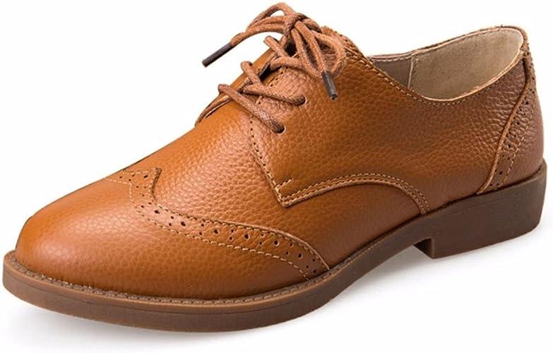 Chaussures à Moonwalker Derbies en Femme Lacets Cuir Véritable 34ARjL5