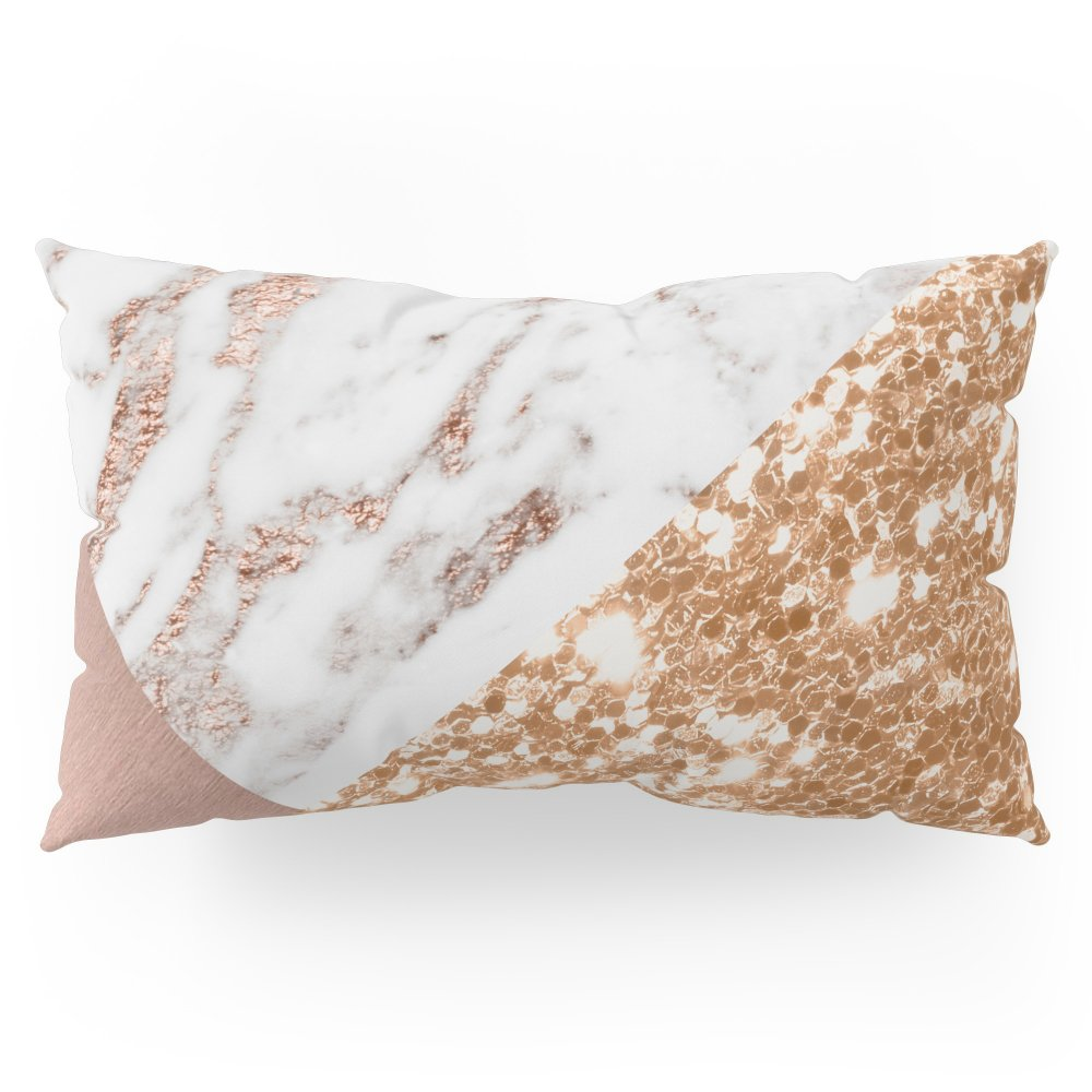 Society6 Layers Of Rose Gold Pillow Sham King (20'' x 36'') Set of 2