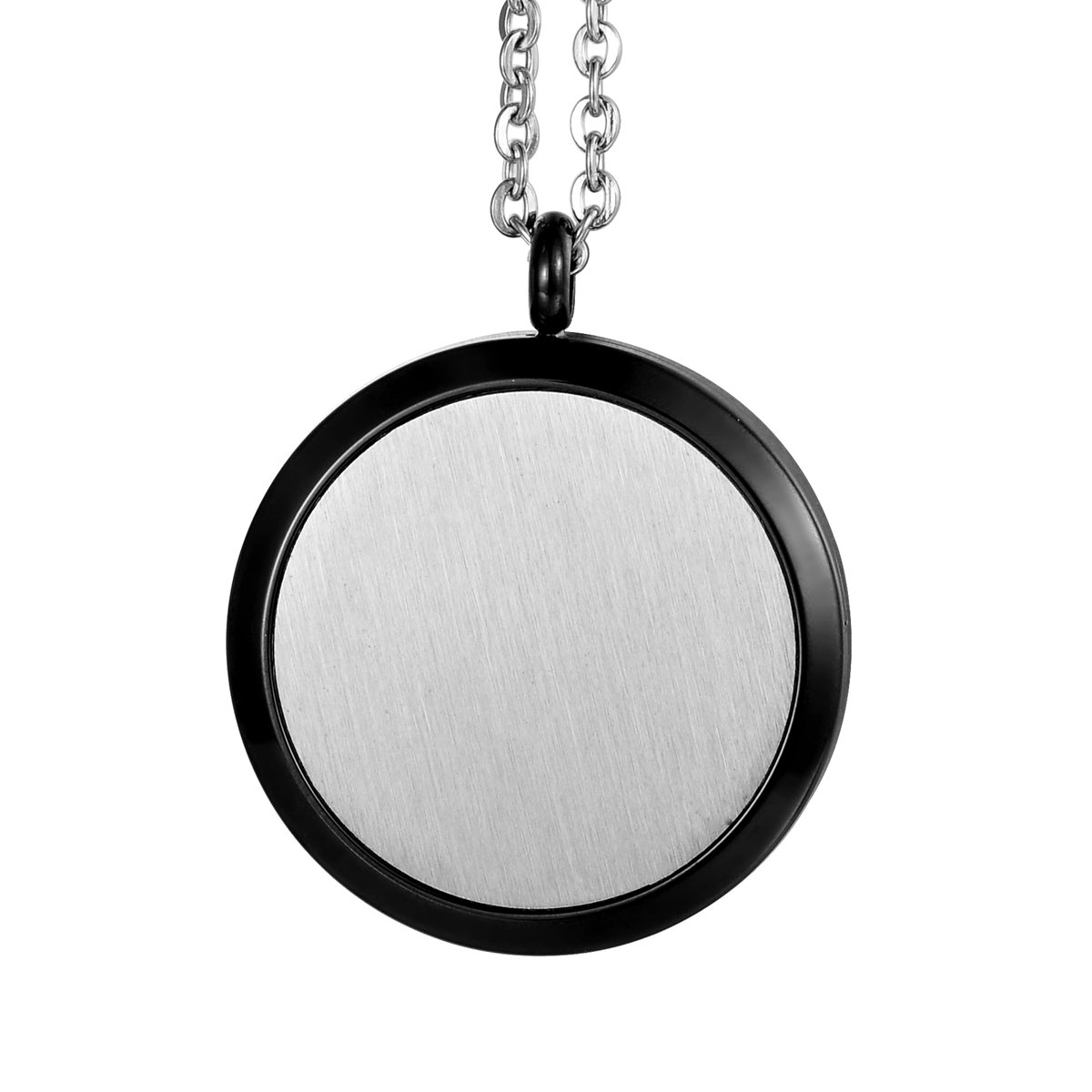 HOUSWEETY Aromatherapy Essential Oil Diffuser Necklace-Stainless Steel Tree of Life Locket Pendant,11 Refill Pads (Non-engraving) by Housweety (Image #4)