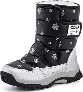 Toddler//Little Kid//Big Kid Otamise Boys Girls Outdoor Waterproof Cold Weather Winter Snow Boots