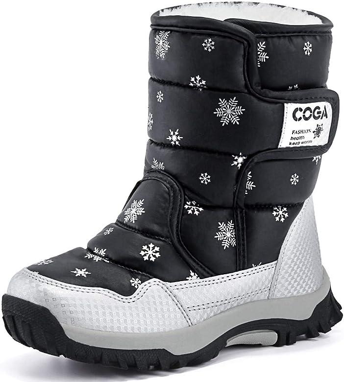 DADAWEN Boys Girls Snow Boots Kids