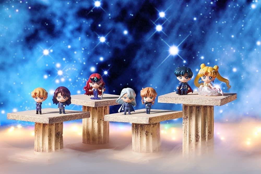 Sailor Moon Petit Chara Trading Figure 7-Pack Dark Kingdom 6 cm (Set di 7): Amazon.es: Juguetes y juegos