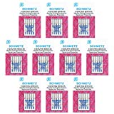 50 Schmetz Quilting Sewing Machine Needles -  Assorted sizes - Box of 10 cards