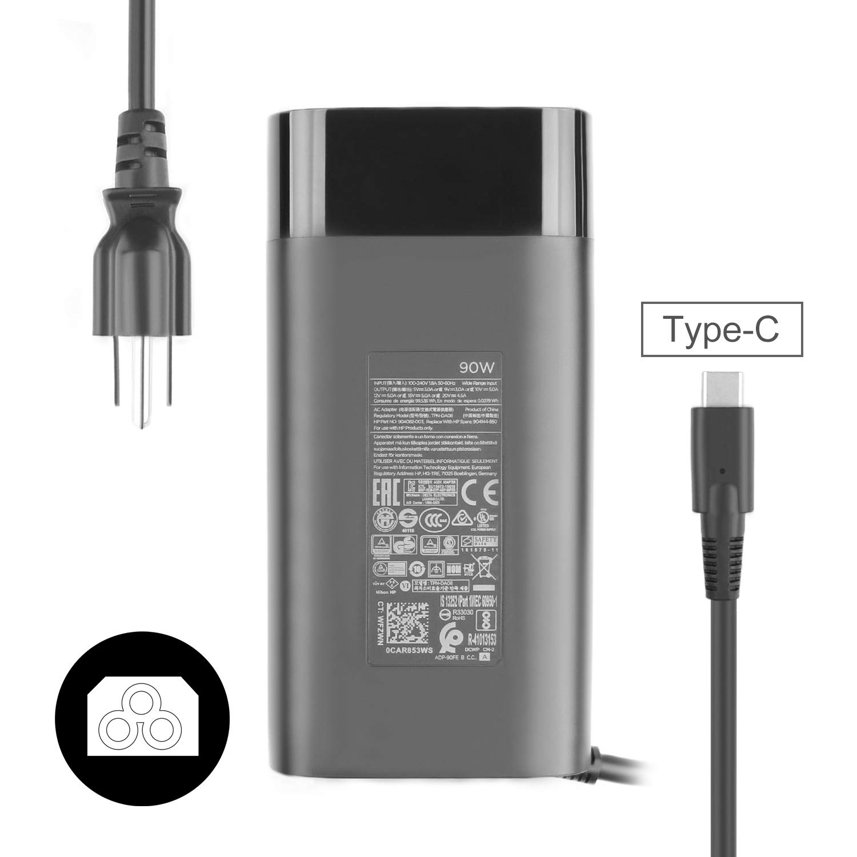 JUYOON 90W USB C Type C Charger for HP Spectre 15-bl100 x360 Elitebook x360 1040 G5 904144-850 904082-003 TPN-DA08 ADP-90FE B TPN-CA06