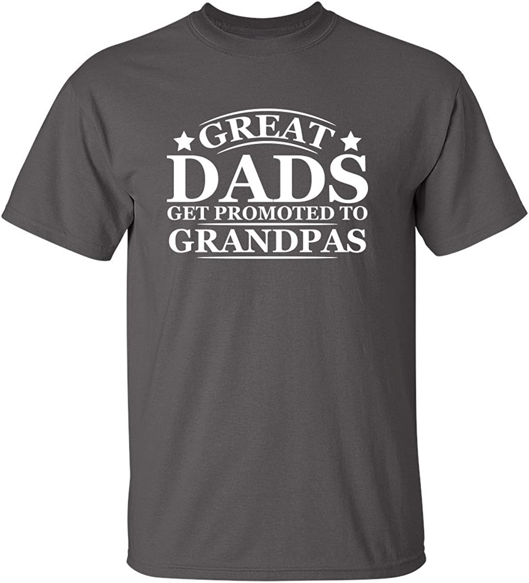 Great Dads Get Promoted to Grandpas Pops Mens Graphic Novelty Funny T Shirt