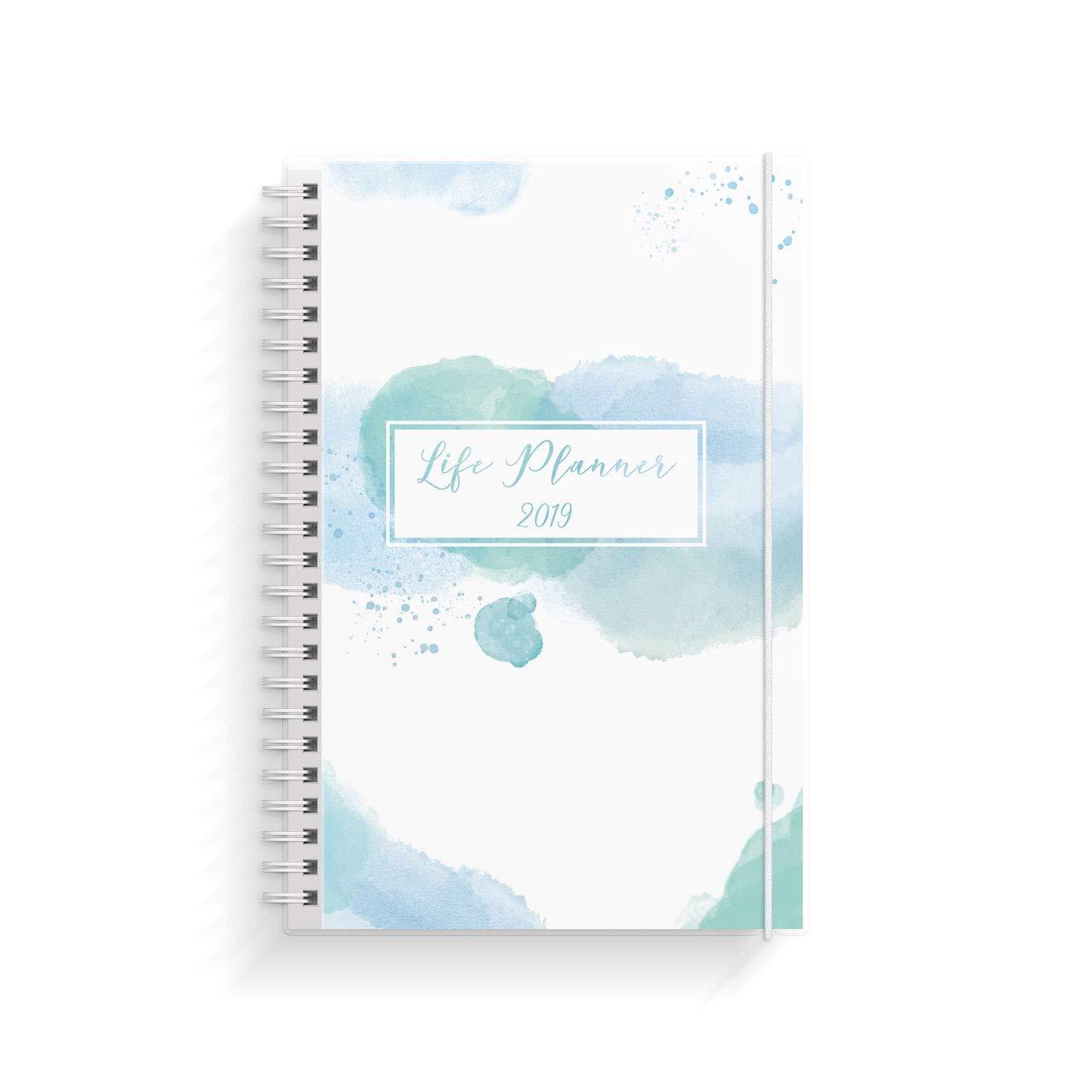 Tagebuch Organisieren mit Stil 2019 Life Planner blau A5 Terminplaner Wochenplaner