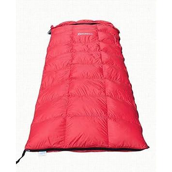 WAVENI Saco de Dormir de Pluma Blanca de 8 Grados Adecuado para Adultos y niños Acampar al Aire Libre - Ligero, Resistente al Agua (Color : Red): Amazon.es: ...