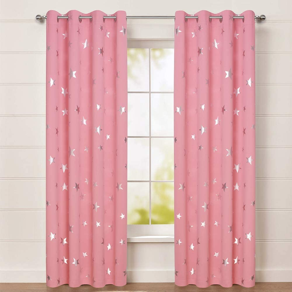 Two Grommet Top Colorful Butterfly Curtain Baby Nursery Curtain Or Toddler Nap Curtain Bedroom Curtains Triple Woven Light Blocking Curtain