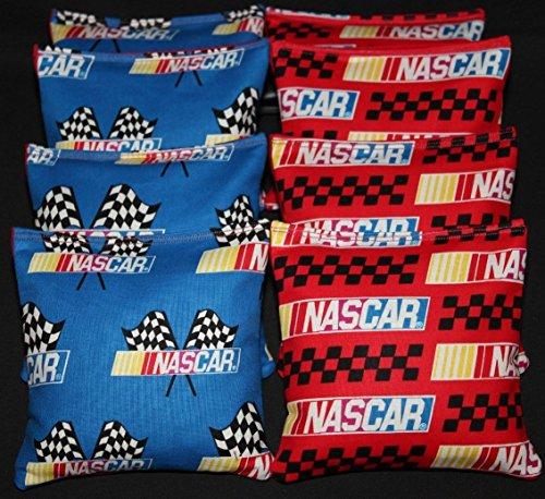 (BackYardGamesUSA NASCAR RACING Cornhole Bean Bags Race Car Checkered Flag Baggo Toss Holeshot)