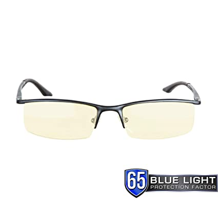 dcd6ab52a5 Gunnar Optiks ST003-C001 Emissary Semi-Rimless Advanced Computer Glasses  with Squared Off Lenses
