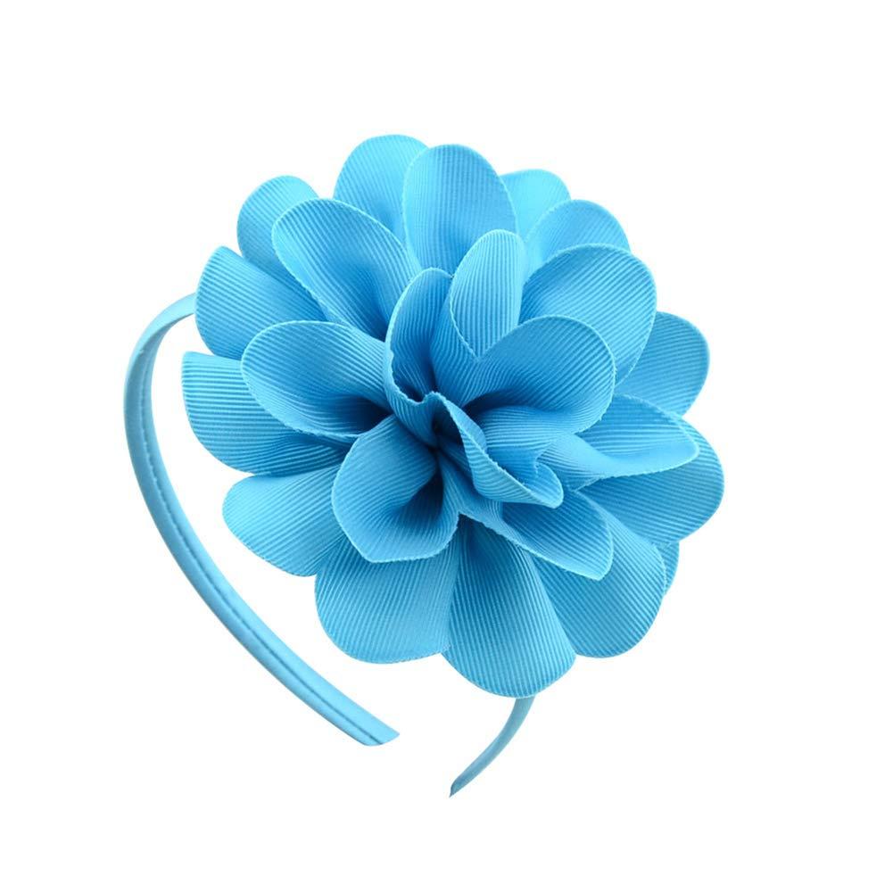 Ribbon Big Flowers Hairband Principessa Per Bambini Accessori Per Capelli In Plastica Ragazze Fascia Headwear Con Il Fiore