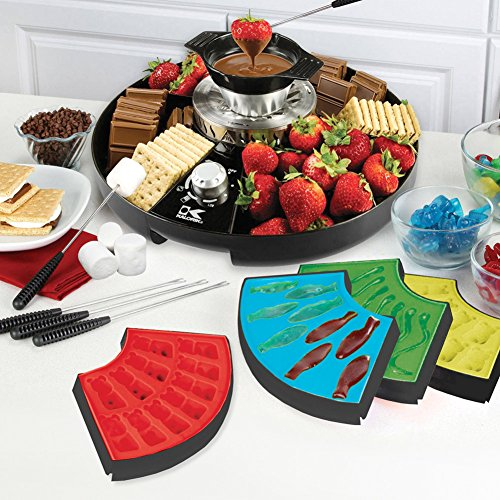 Kalorik Three-In-One Chocolate Fondue, Gummy, S'mores and Marshmallow Treat Maker (Candy Treat Ideas)