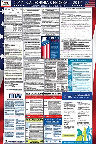 Laminated 2017 California and Federal Labor Law Poster