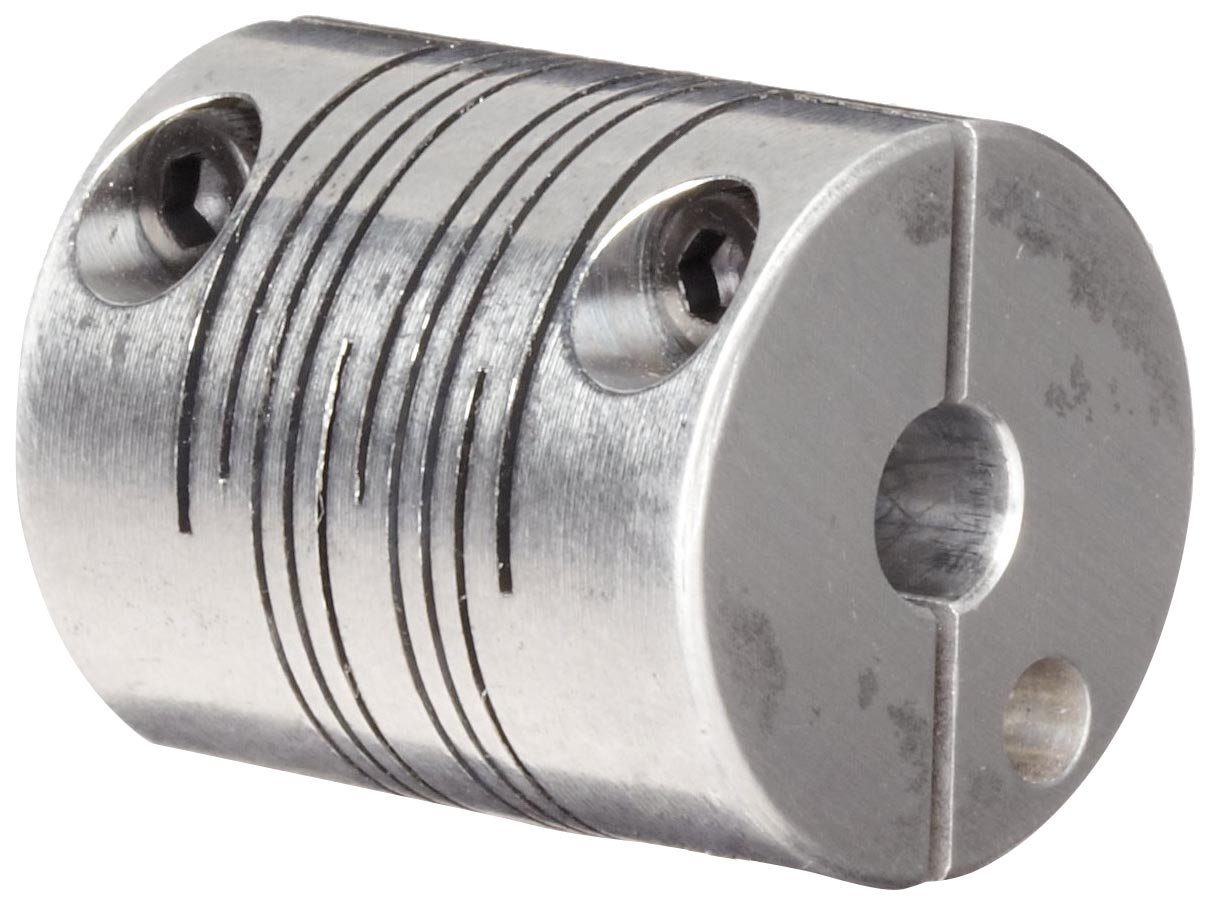 6mm Bore B Diameter 8mm Bore A Diameter 38.1mm Length 7.23 Nm Nominal Torque Ruland PCMR32-8-6-A Clamping Beam Coupling Metric 31.8mm OD Polished Aluminum
