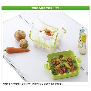 ロゴス 箸付き食器セットBOX(4人用) 81285004