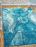 Unique Loom Sofia Collection Turquoise 8 x 10 Area Rug (8' x 10')