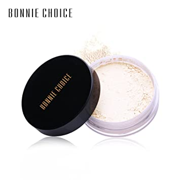 Amazon.com : BONNIE CHOICE Loose Face Powder Waterproof Makeup Foundation Brighten Finishing Powder Translucent Light Cosmetic With Puff For Women Oily Dry ...