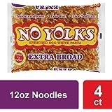 No Yolks Extra Broad Egg Noodle, 12 oz (Pack of 4)