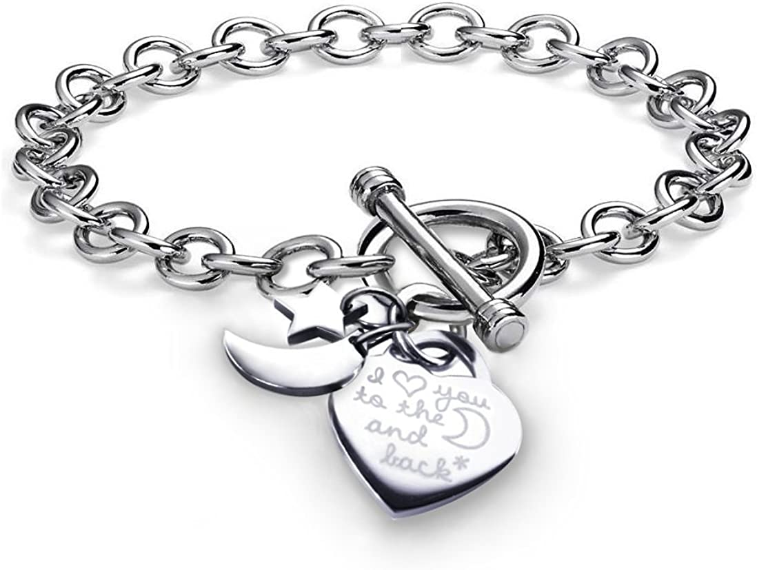 Stunning Charm Stainless Steel Bracelet Mens All Occasions Accessory