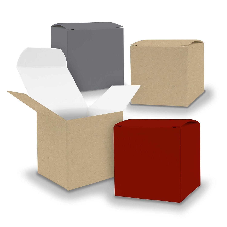 itenga Adventskalender Schachteln V11 24x Box mit Griff BRAUN Kraftkarton Bastel