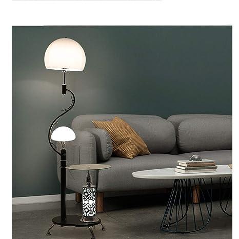 Lámpara vertical de pie minimalista Lámpara de pie de vidrio ...