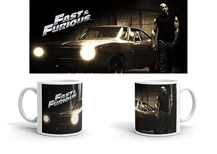 JEMASHOP Taza Desayuno. A Todo Gas. Fast and Furious 02. Frase, Foto