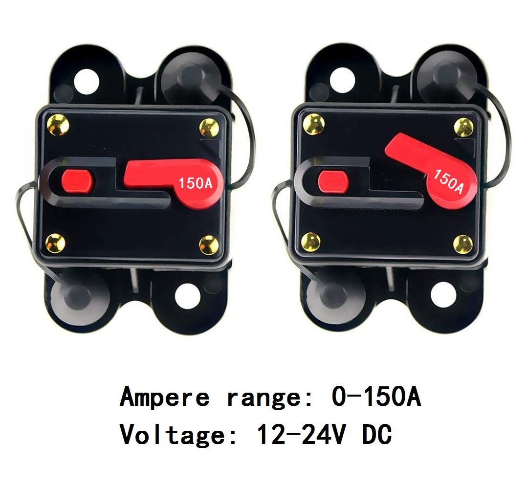 Anjoshi 60amp Circuit Breaker 50a 300a Manual Reset Home Solar Dc Fuse Box System Holder Car Audio